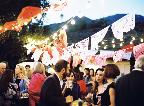 Colorful San Ysidro Ranch Rehearsal Dinner