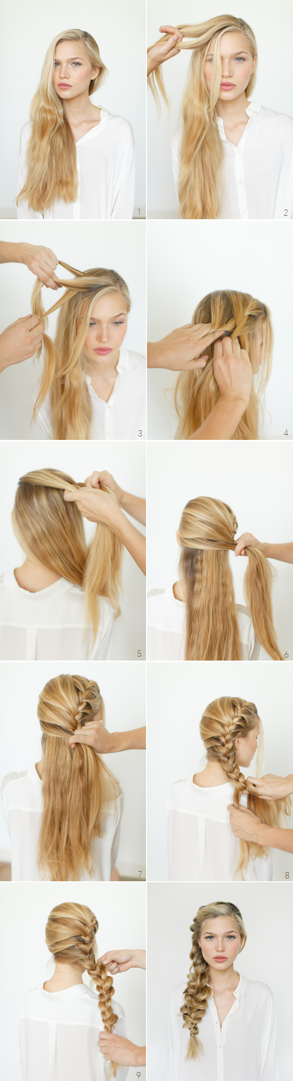 Romantic Loose Side Braid Tutorial