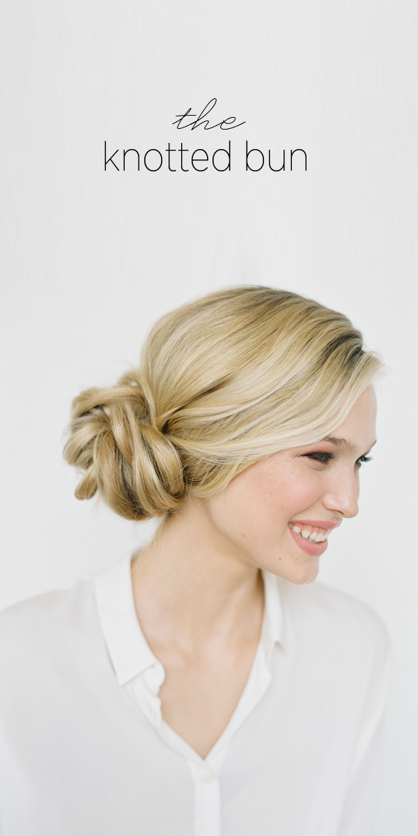 Diy Knotted Bun Wedding Hairstyle Wedding Hair Updo Ideas