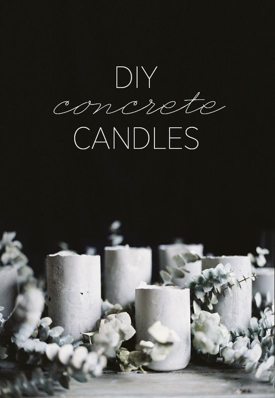 Diy concrete candles once wed diy concrete candles junglespirit Images