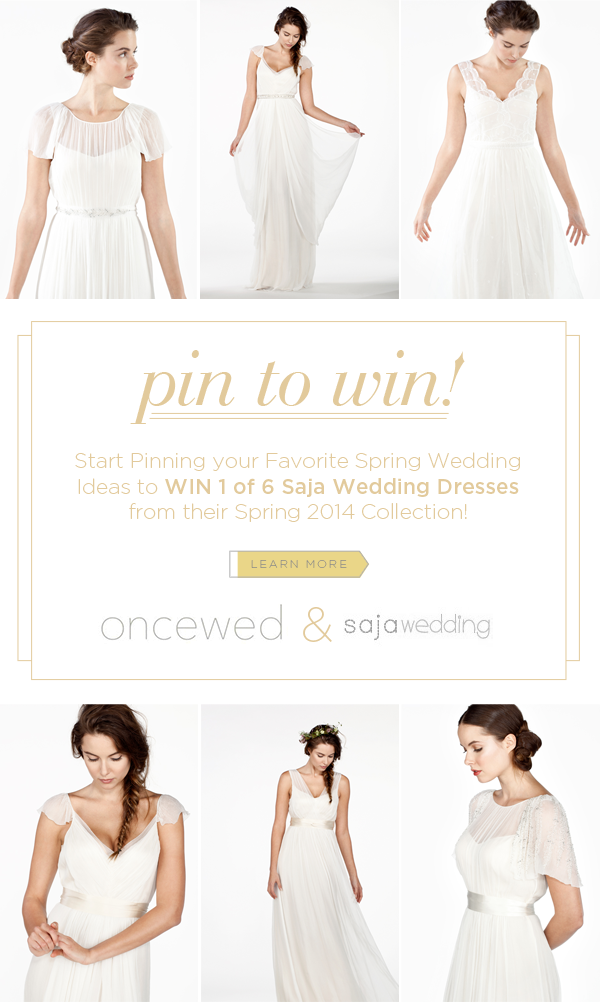 A chic rustic wedding once wed pin to win 1 of 6 saja wedding dresses junglespirit Choice Image