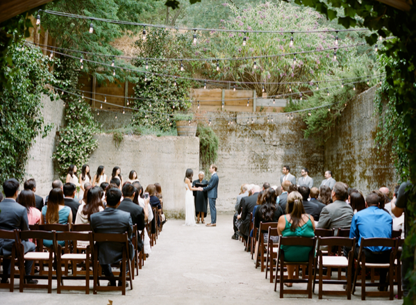 Simple Outdoor Ceremony Decorations: Effortless Outdoor San Jose Wedding