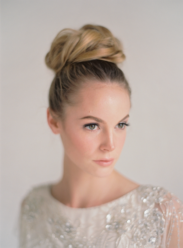 Jenny Packham Rose Wedding Dress Classic Bun Updo