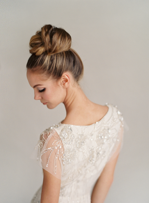 Jenny Packham Rose Wedding Dress | Classic Bun Updo