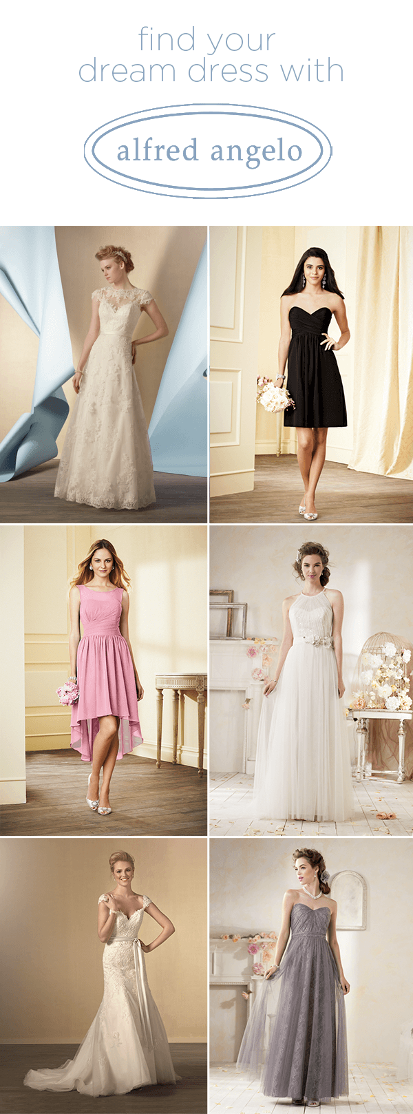 Wedding and Bridesmaids Dresses from Alfred Angelo