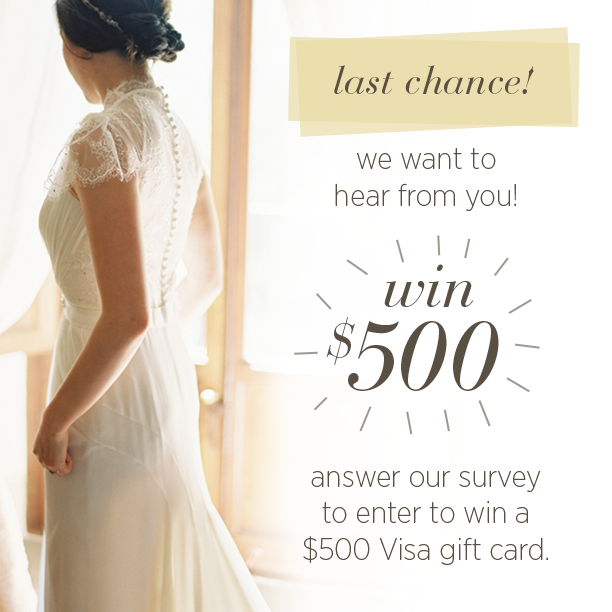 Last Chance! Win $500 from Once Wed!