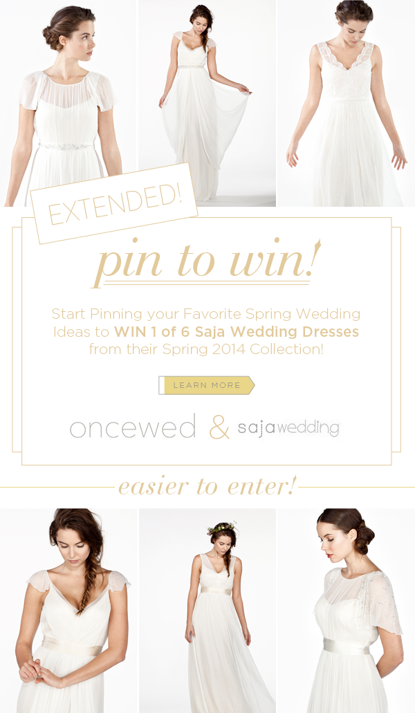 Pin To Win A Saja Wedding Dress Extended Once Wed