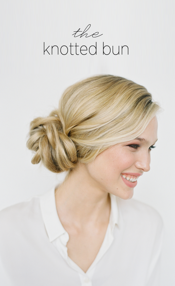 DIY Knotted Bun Wedding Hairstyle