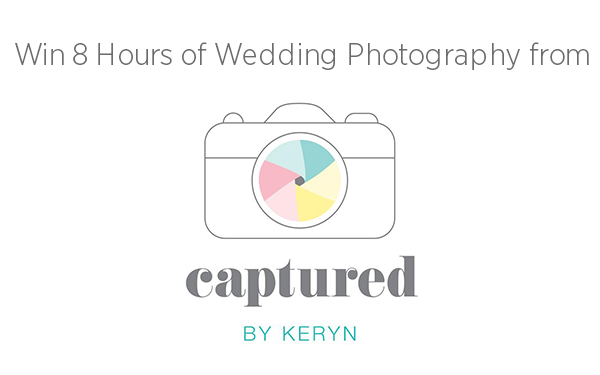 Win 8 Hours of Wedding Photography from Captured by Keryn