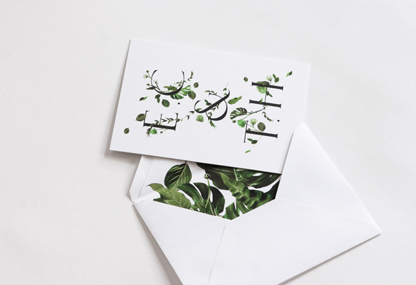 Botanical Inspired Wedding Invitations