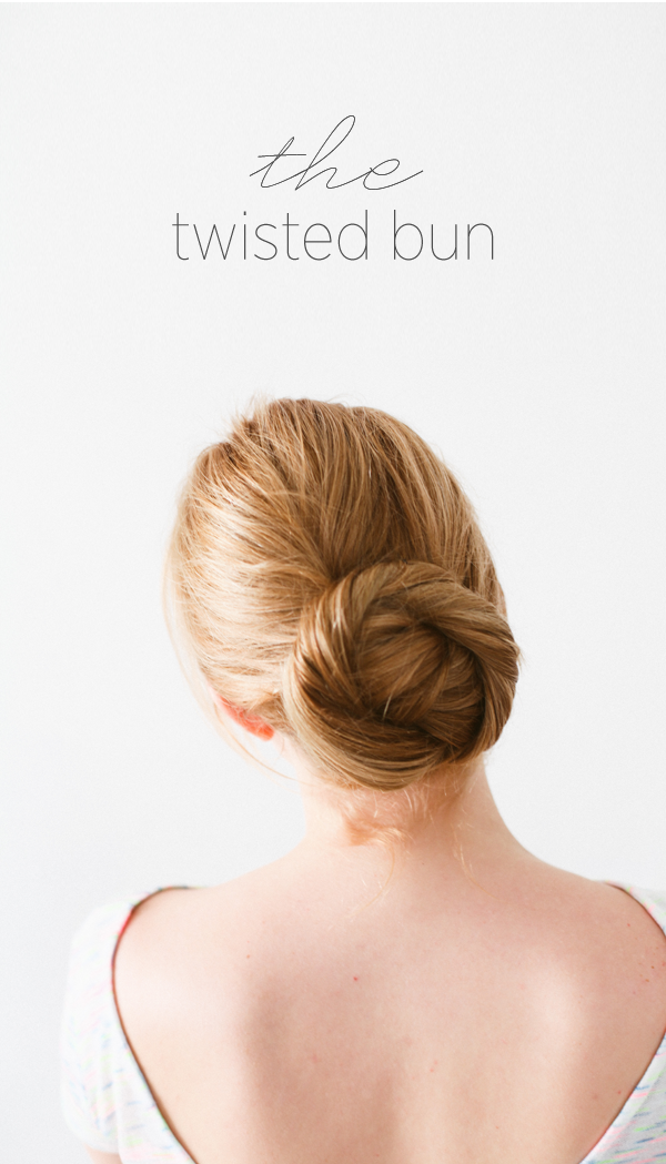 DIY Twisted Bun Hair Tutorial