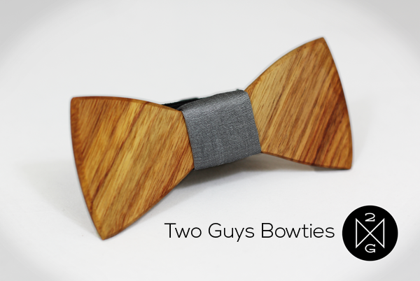 Wooden Bow Ties from Two Guys Bow Ties