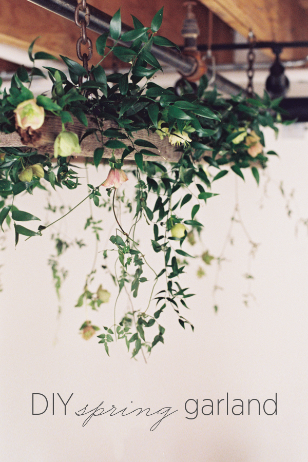 DIY Spring Wedding Garland