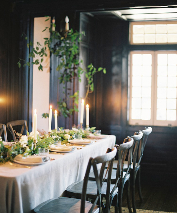 Organic Indoor Winter Wedding