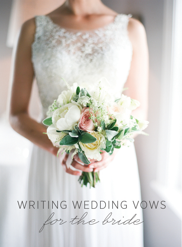 Writing Wedding Vows for the Bride