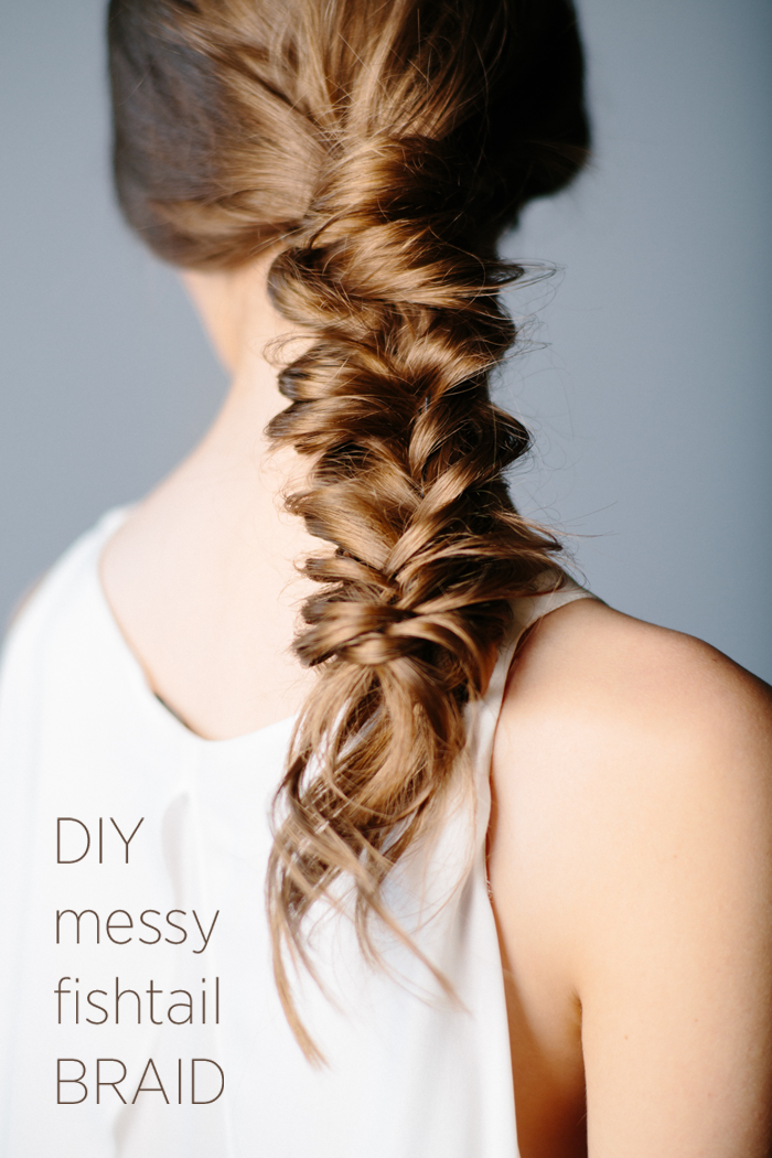 Diy messy fishtail braid diy weddings for Fish tail hair