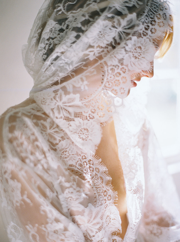 Simple Lace Wedding Boudoir Session Ideas