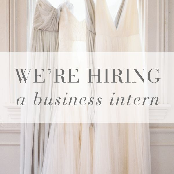 We're Hiring A Business Intern!