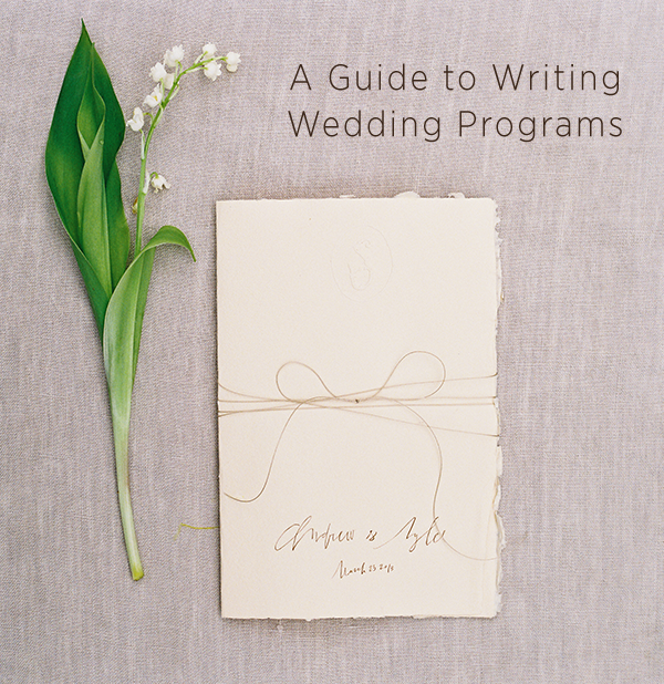 How To Write The Perfect Wedding Program