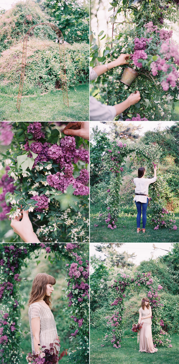 DIY Lilac Arch Tutorial