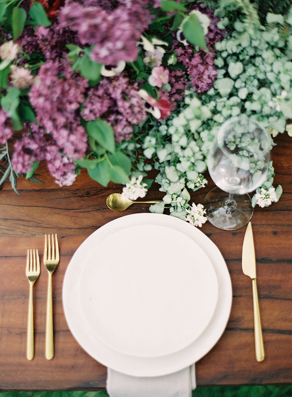 Organic Colorful Wedding Placesetting