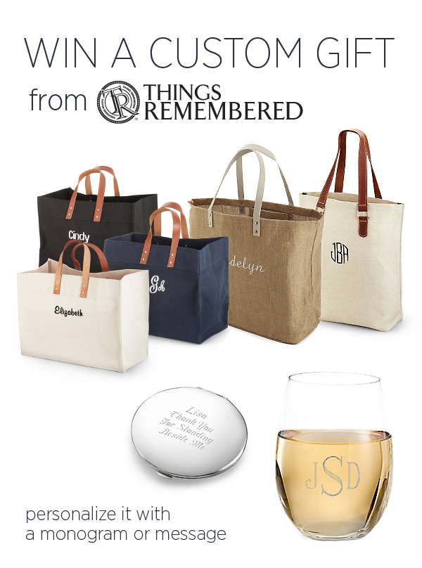 Win Bridesmaids Gifts from Things Remembered