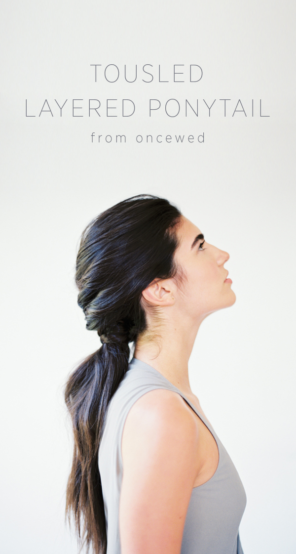 DIY Tousled Layered Ponytail