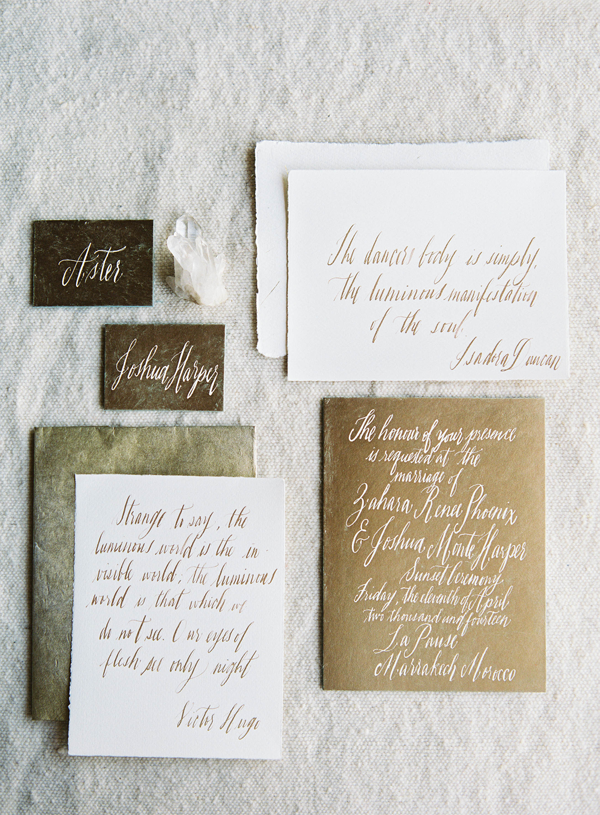 gold-calligraphy-wedding-invitations