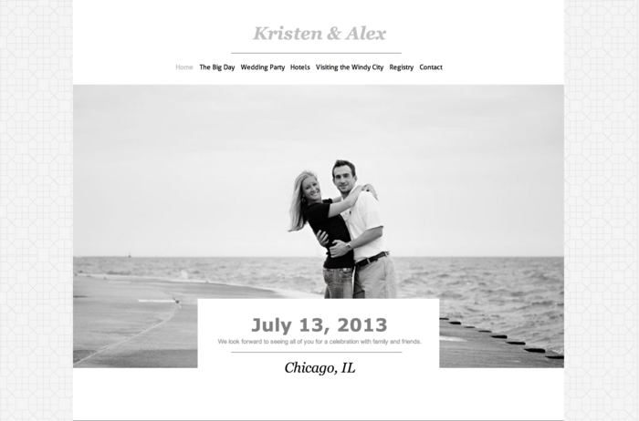 4 Inspiring Wedding Websites Made By Loving Couples