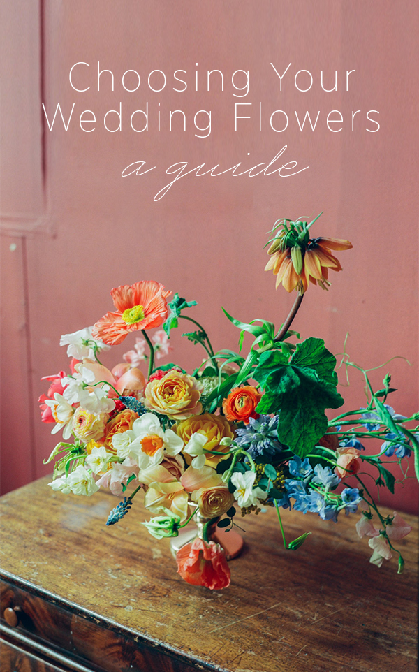 A Guide to Choosing Your Wedding Flowers