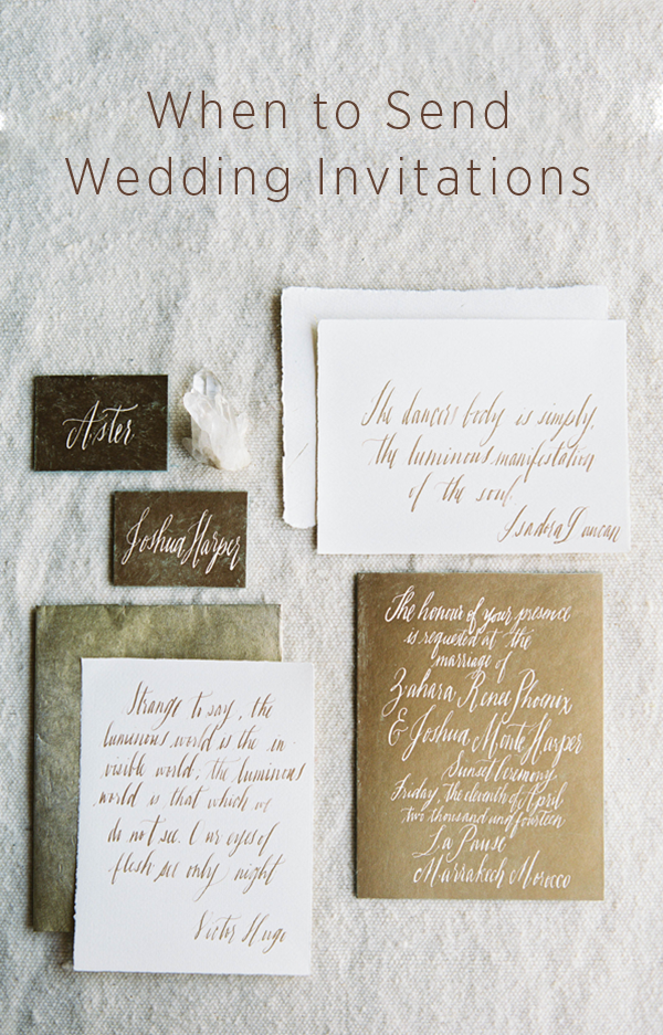 When do I send out wedding invitations? | OnceWed.com