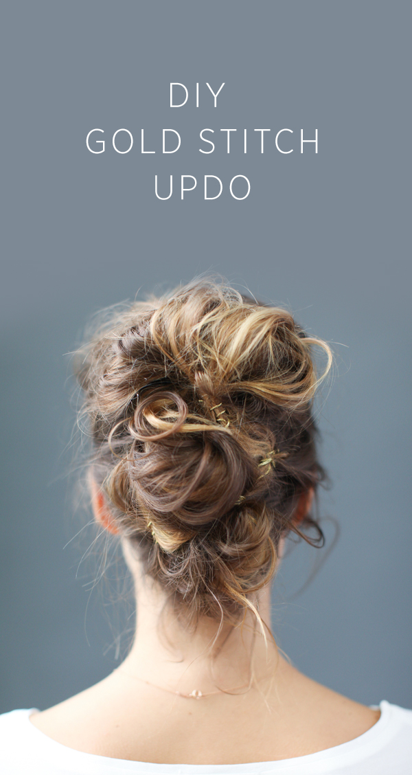 DIY Gold Stitch Updo