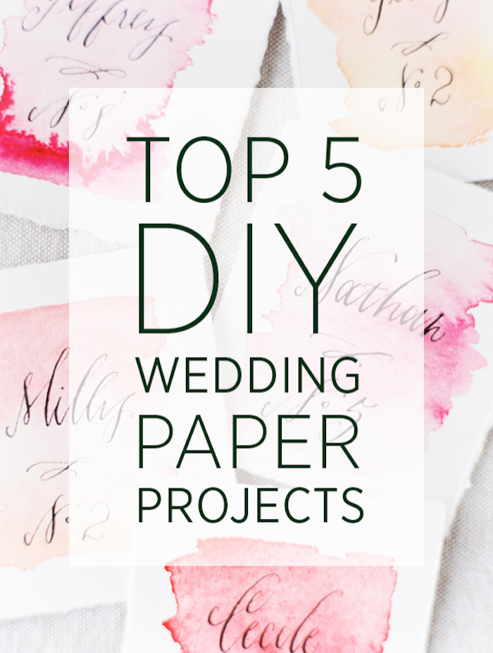 Top 5 DIY Wedding Paper Projects
