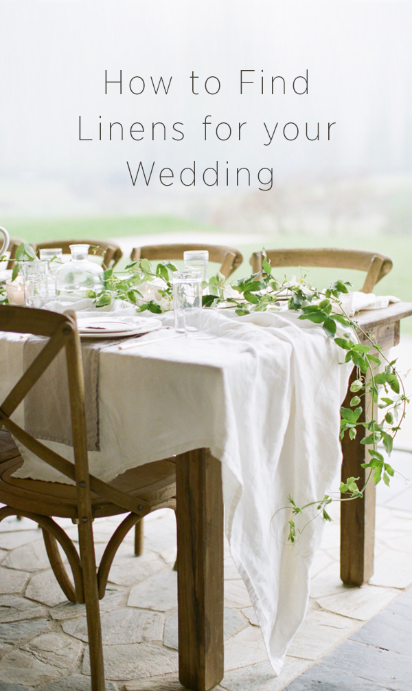 How to Find Linens for your Wedding