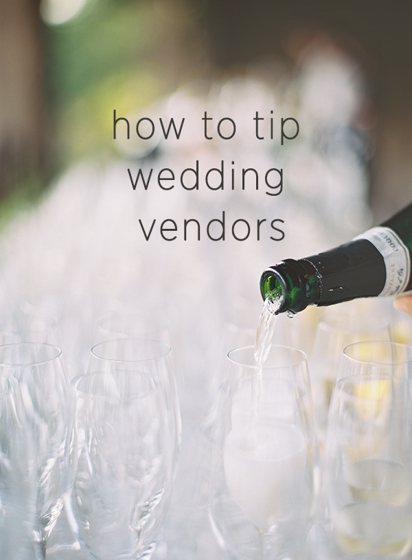 How Much Do I Tip Wedding Vendors