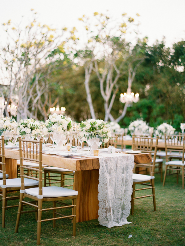 Stylish White Wedding in Bali
