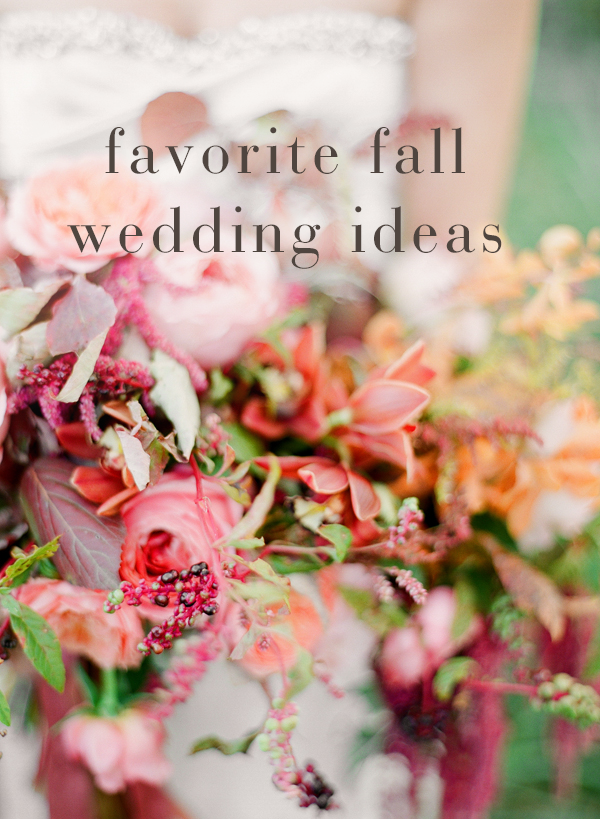 Most Pinned Fall Wedding Ideas