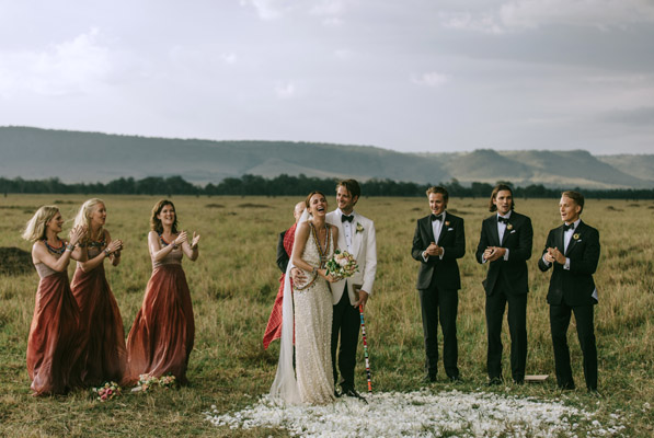 nontraditional-red-bridesmaids-wedding-dresses