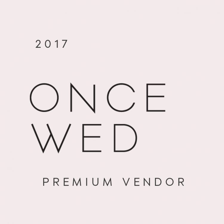Once wed marketing materials once wed oncewed sq badge preferred vendor 2016 junglespirit Choice Image