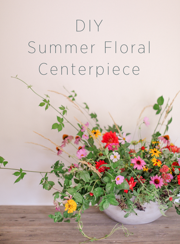 DIY Summer Floral Centerpiece