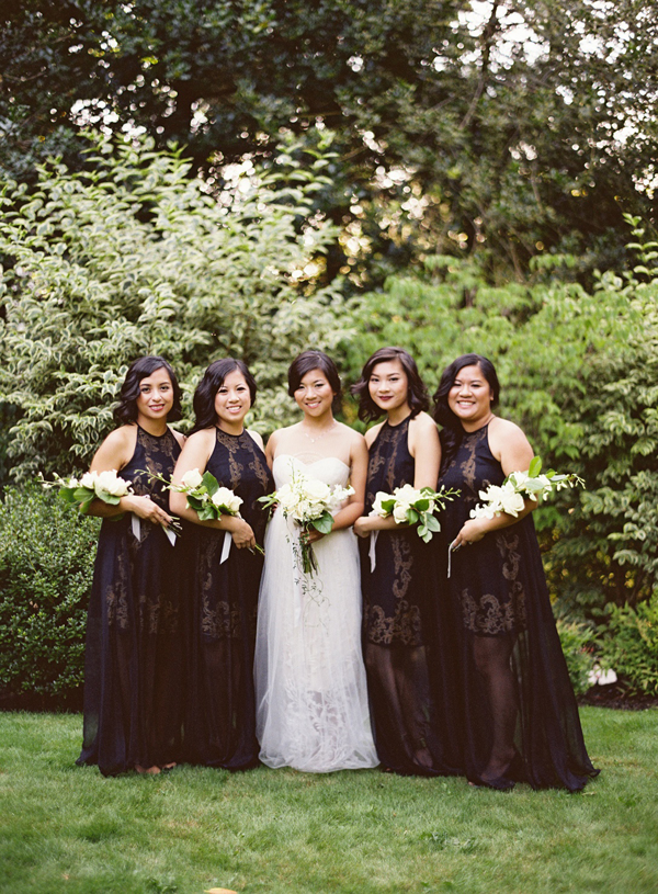 black-lace-wedding-bridesmaid-dress
