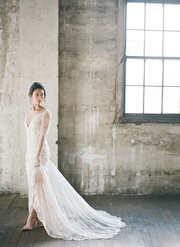 lace-wedding-dress-with-sheer-train