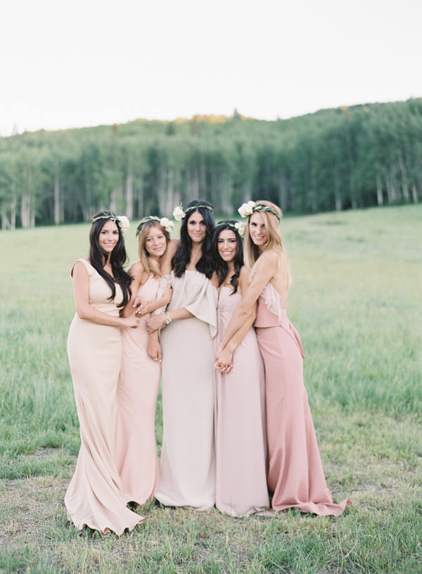 mismatched-pink-bridesmaids-dresses