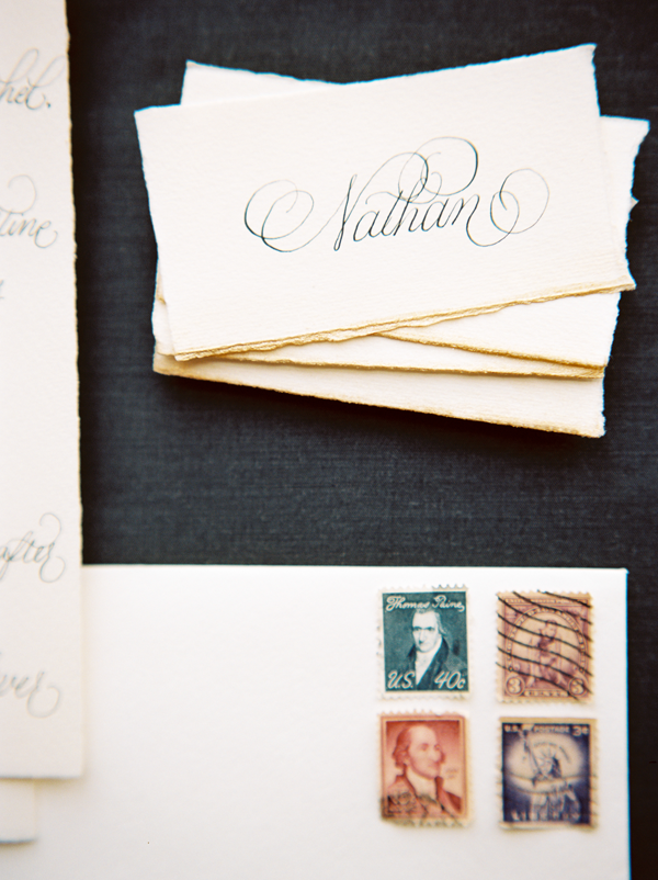 classic-vintage-stamps-calligraphy-escort-cards