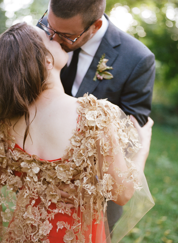 gold-wedding-cape-lace-details