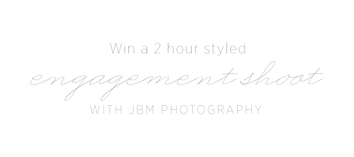 Win an Engagement Session from JBM Weddings