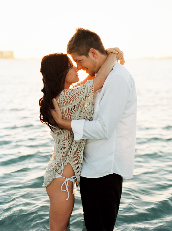 Calming Beach Engagement Session In Mexico