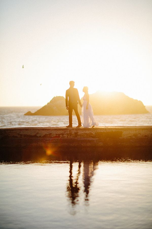 Elegant Beach Engagement Session