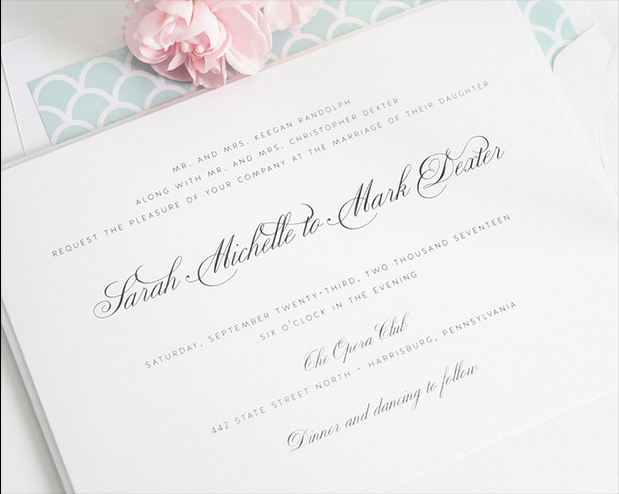 Shine Wedding Invitations | Wedding Ideas | Oncewed.com