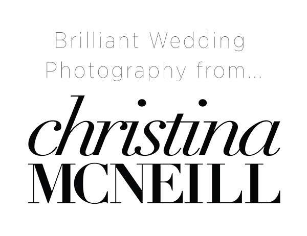 Brilliant Wedding Photography from Christina McNeill